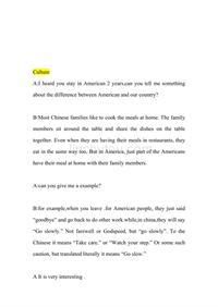 英语口语对话短文 2
