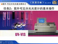 紫外可见分光光度计的基本操作