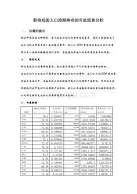 (作業)計量經濟學論文(eviews分析)《影響我國人口預期