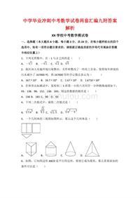 中学毕业冲刺中考数学试卷两套汇编九附答案解析