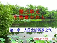 [中学联盟]山东省邹城市第五中学济南版七年级生物下册《3.2.1人体与外界的气体交换(1)》课件