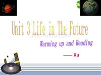 高中英语新人教版必修5Unit3life in the future readin