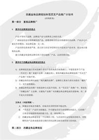 西藏金珠品牌规划和雪灵芝产品推广计划书
