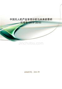 中国无人机产业专项分析与未来前景研究报告(2014-2019)-无人机专业技术资料