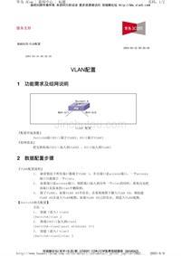 华为交换机典型配置_VLAN配置