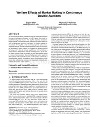 Welfare Effects of Market Making in Continuous Double Auctions (Extended Abstract)