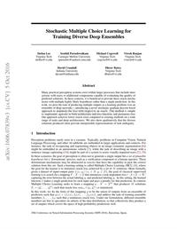 Stochastic Multiple Choice Learning for Training Diverse Deep Ensembles