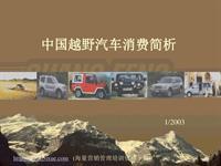 中国越野汽车消费简析