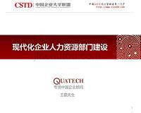 现代化企业人力资源部门建设-王磊