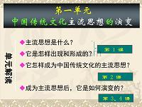 """历史:1、《""""百家争鸣""""和儒家思想的形成》课件(1)(新人教版必修3)"""