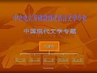 中国现代文学专题 演示文稿